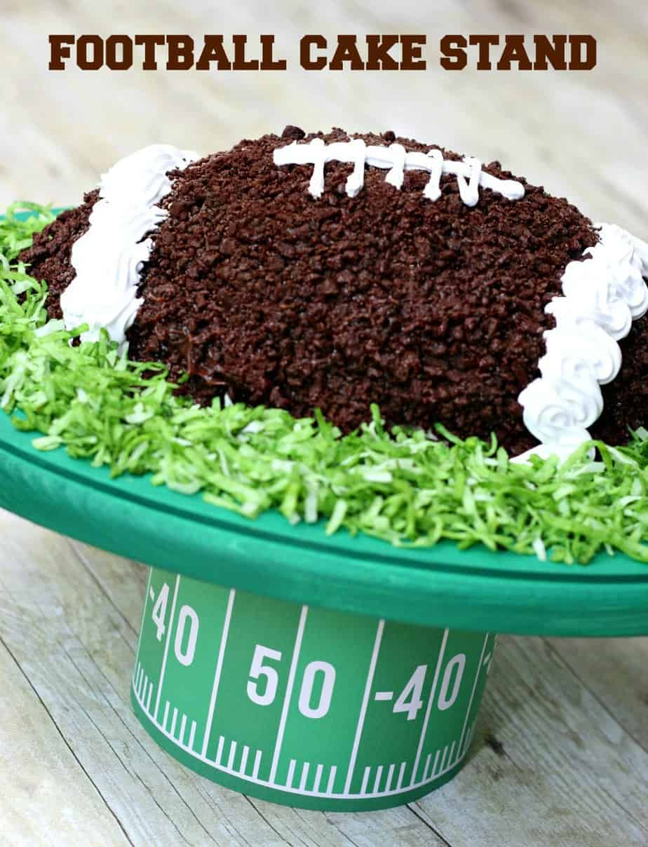 DIY Football Cake Stand 1