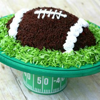 Easy DIY Football Cake Stand