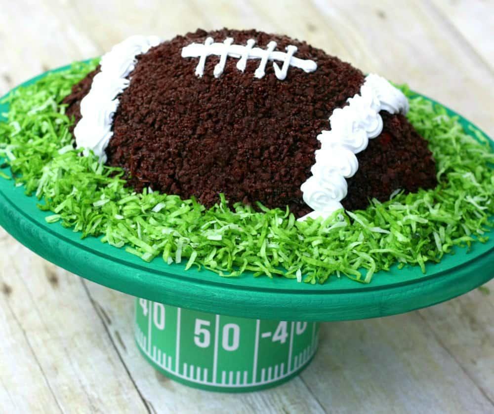 DIY Football Cake Stand 2
