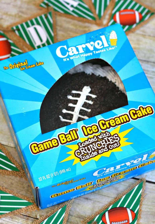 Football Ice Cream Cake