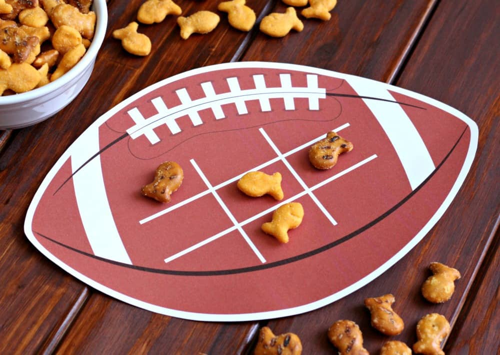 Football Tic Tac Toe - Free Printable
