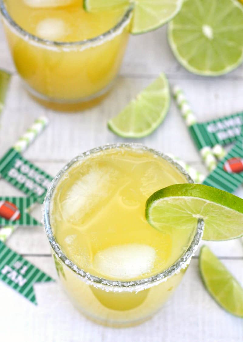 Game Day Punch with Football Party Straws