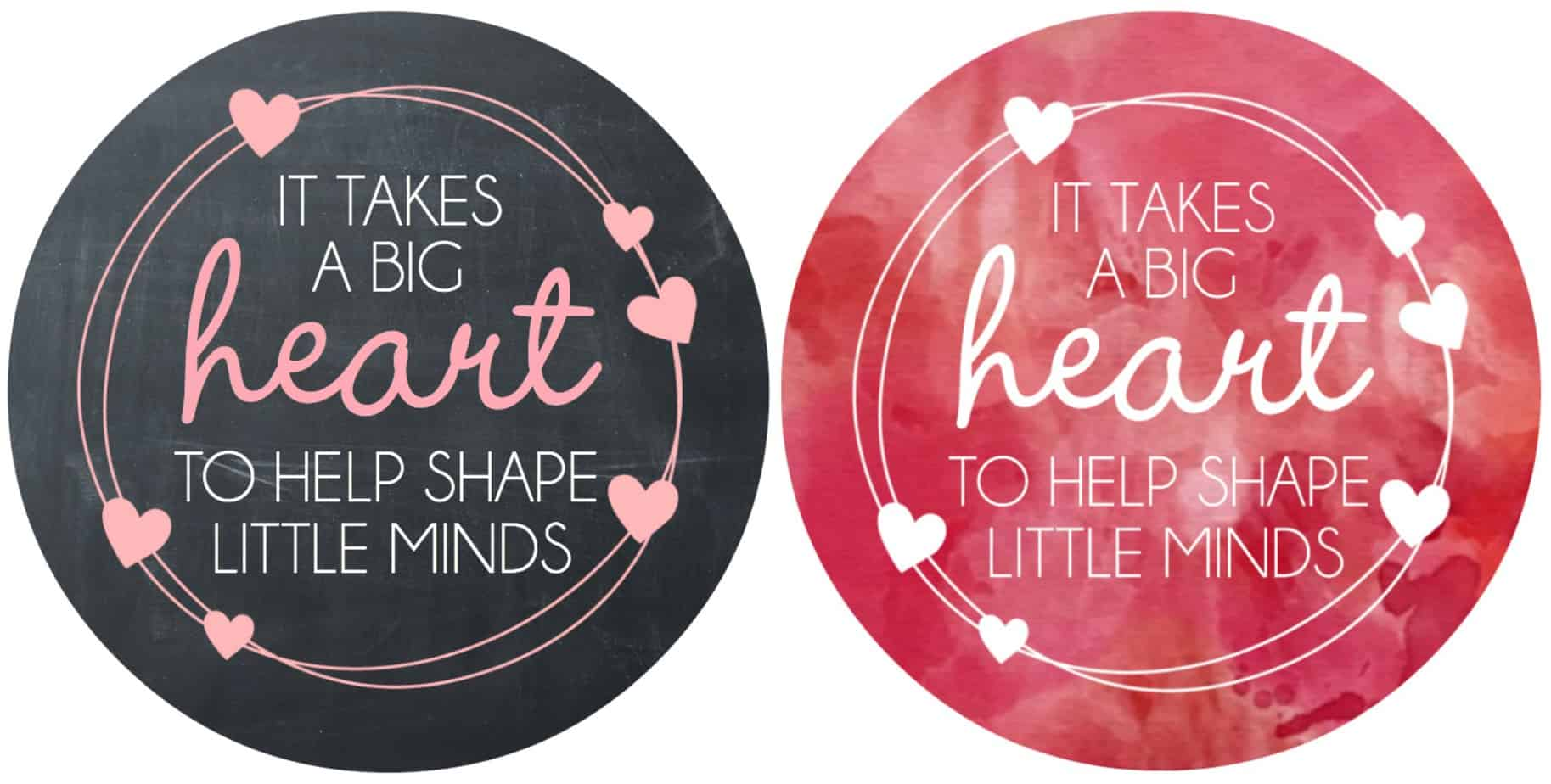 graphic relating to It Takes a Big Heart to Shape Little Minds Printable identify Valentines Working day Instructor Reward Free of charge Printable - Pleased-Shift-Fortuitous