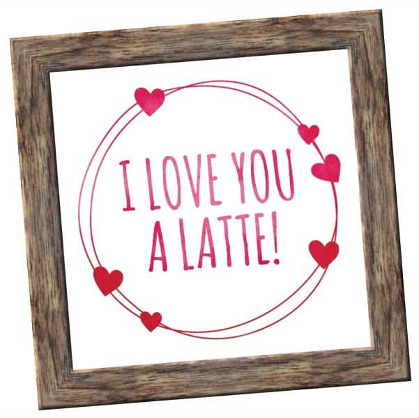 latte wood frame