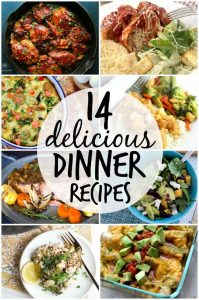 http://www.happygoluckyblog.com/wp-content/uploads/2017/02/14-delicious-dinner-recipes-199x300.jpg