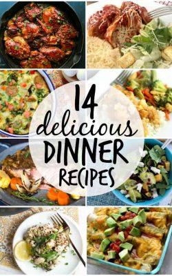 14 delicious dinner recipes