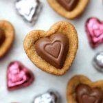 Heart Peanut Butter Blossom Cookies