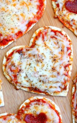 Heart Pizzas