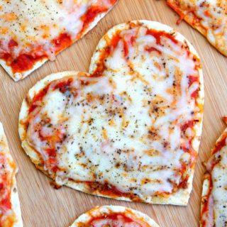 Valentine's Day Heart Pizzas