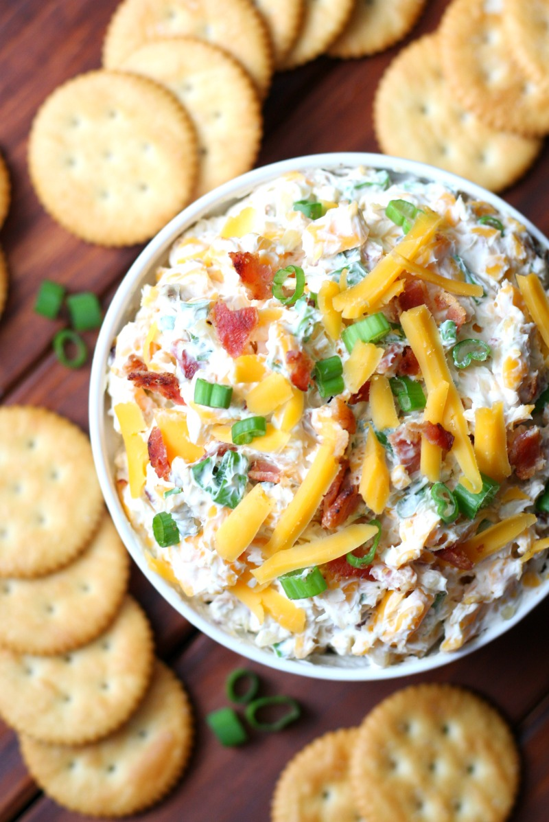 5 Minute Million Dollar Dip is an easy dip recipe that only calls for 6 ingredients. This cracker dip is sure to be a crowd pleaser!