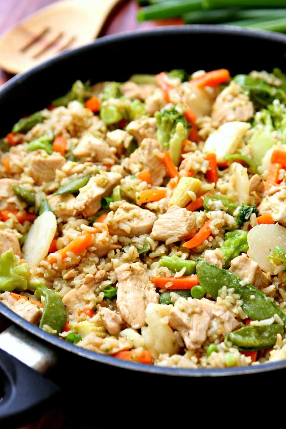 One Pot Teriyaki Chicken Rice Bowls