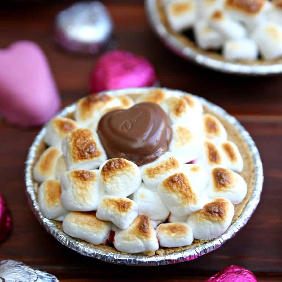 Valentine's Day Smores Mini Pies