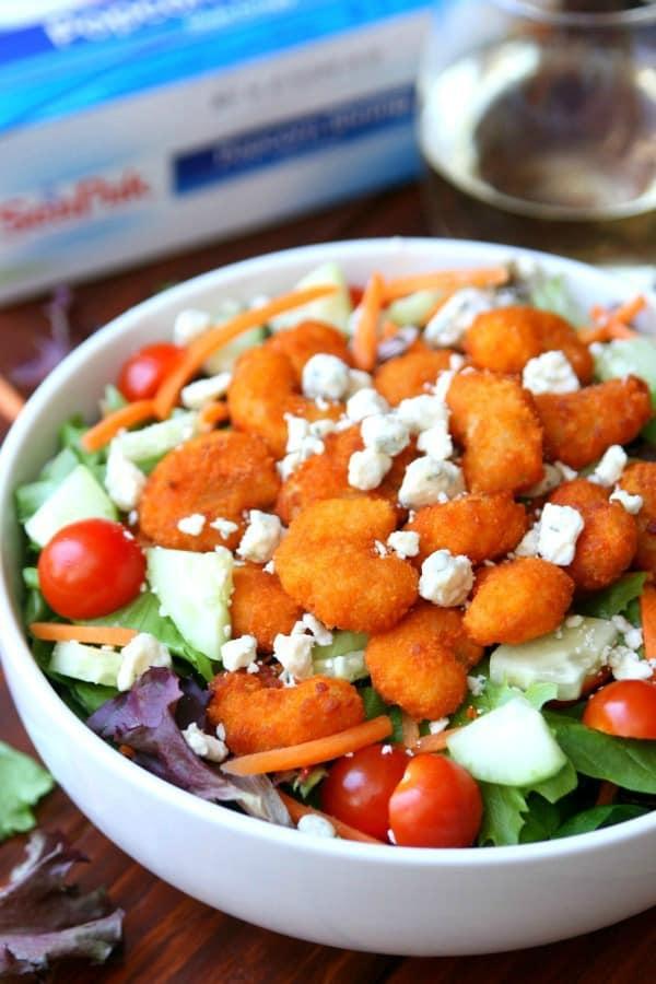 Buffalo-Shrimp-Salad