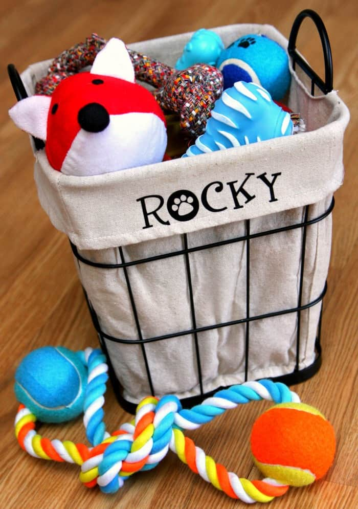 DIY Personalized Dog Toy Bin