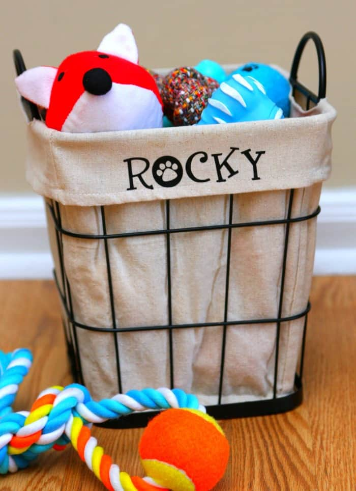 DIY Personalized Dog Toy Bin 3