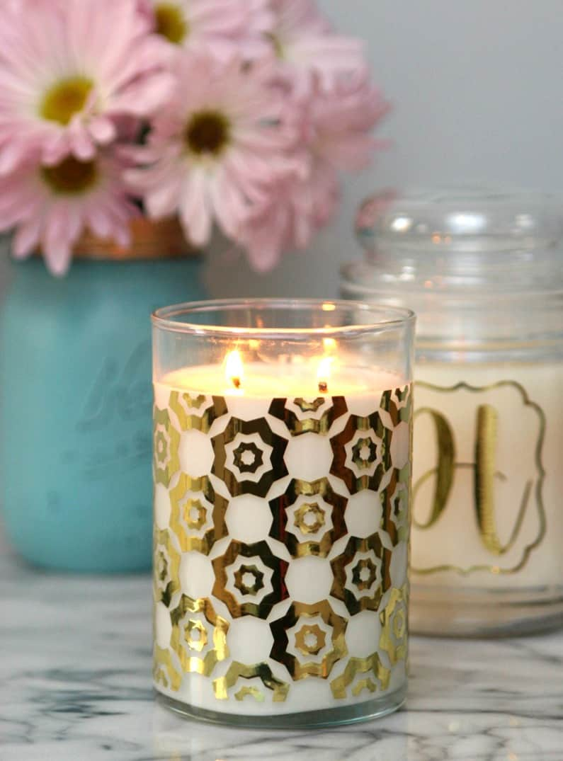 Gold Foil Candles 2