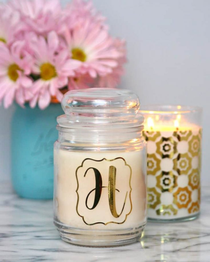 Decorate Candles with Your Cricut