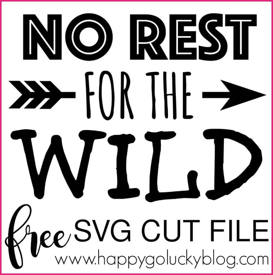 No Rest SVG Cut File