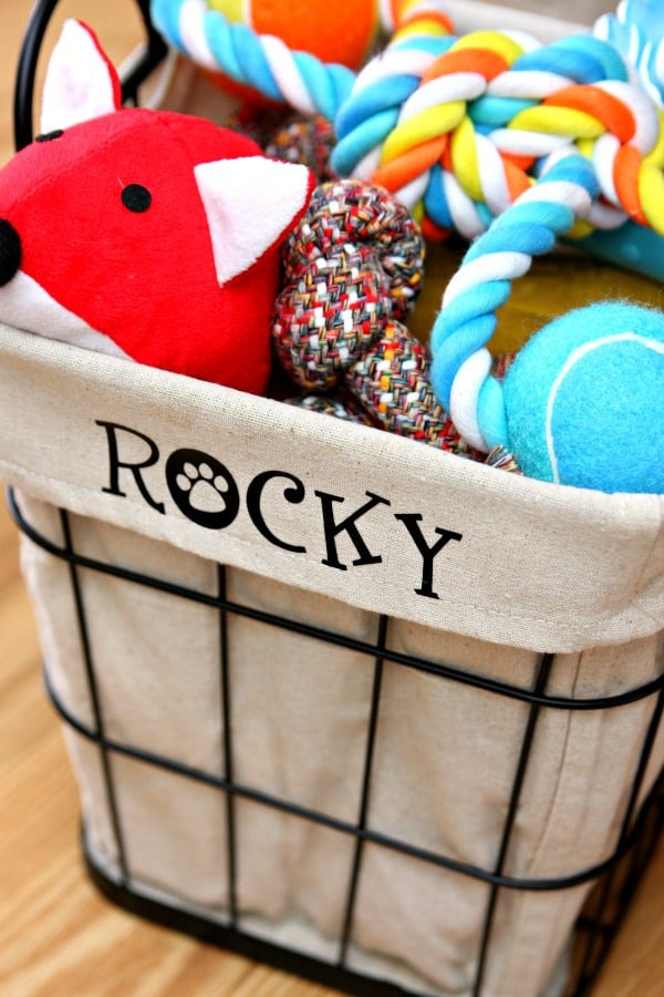 Personalized Dog Toy Bin 7