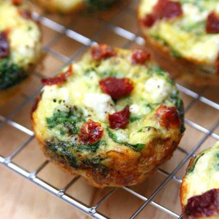 Spinach, Feta and Sun-Dried Tomato Egg Muffin Cups