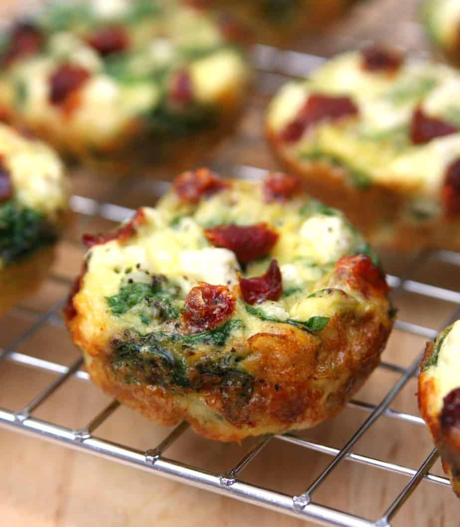 Spinach, Feta and Sun-Dried Tomato Egg Muffin Cups 3