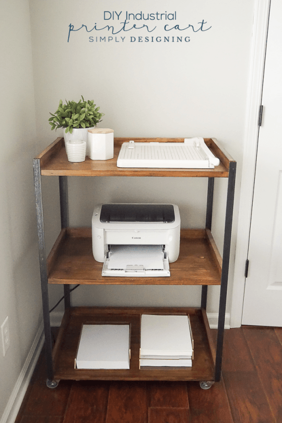 This-DIY-Industrial-Printer-Cart-is-simple-to-build-yourself-and-is-so-pretty-and-functional