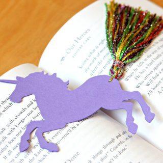 Unicorn Bookmarks with Yarn Tassels