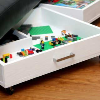 DIY Rolling Storage Drawers