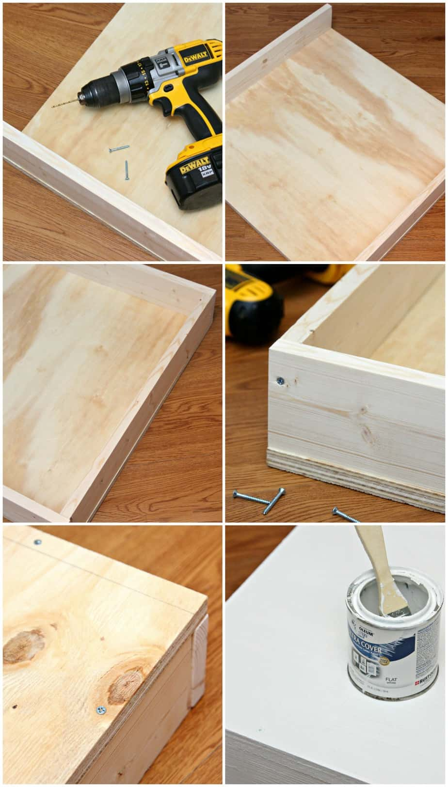 DIY Storage Drawers Directions