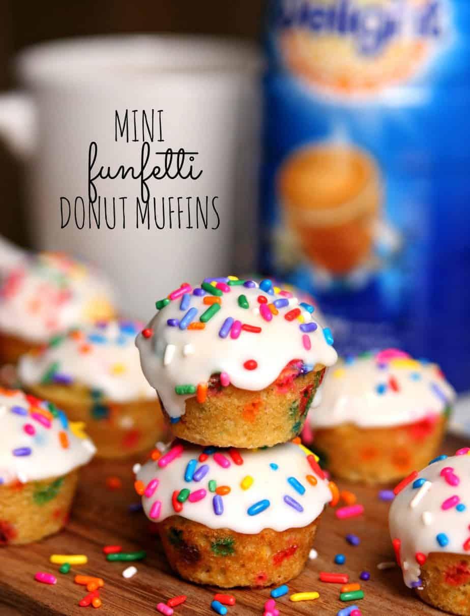Mini Funfetti Donut Muffins