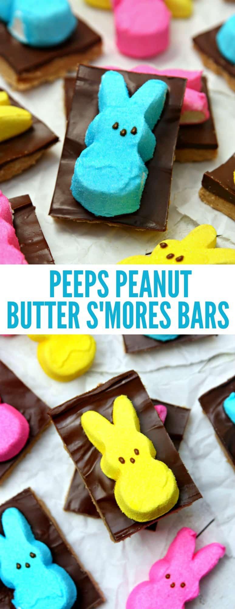 PEEPS Peanut Butter S'mores Bars