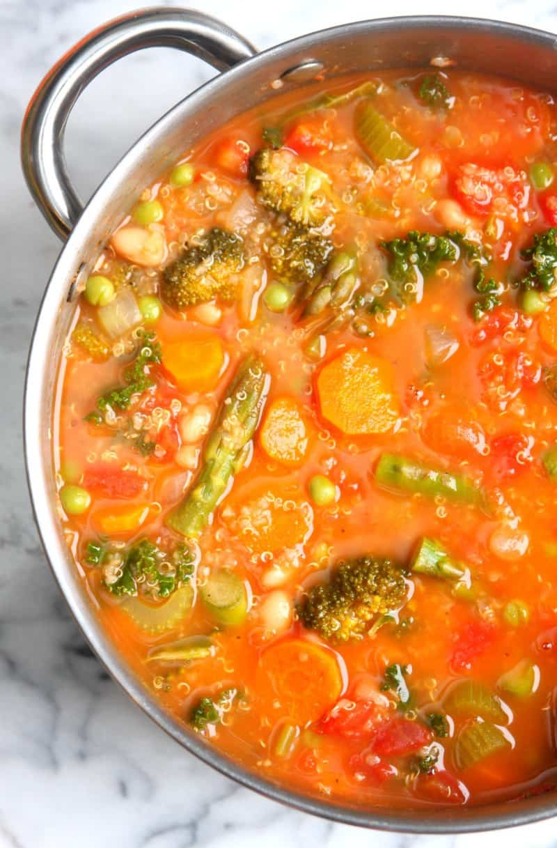 Spring Vegetable Quinoa Minestrone 3