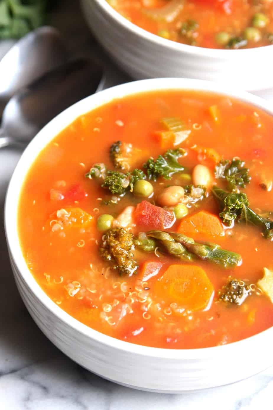 Spring Vegetable Quinoa Minetrone
