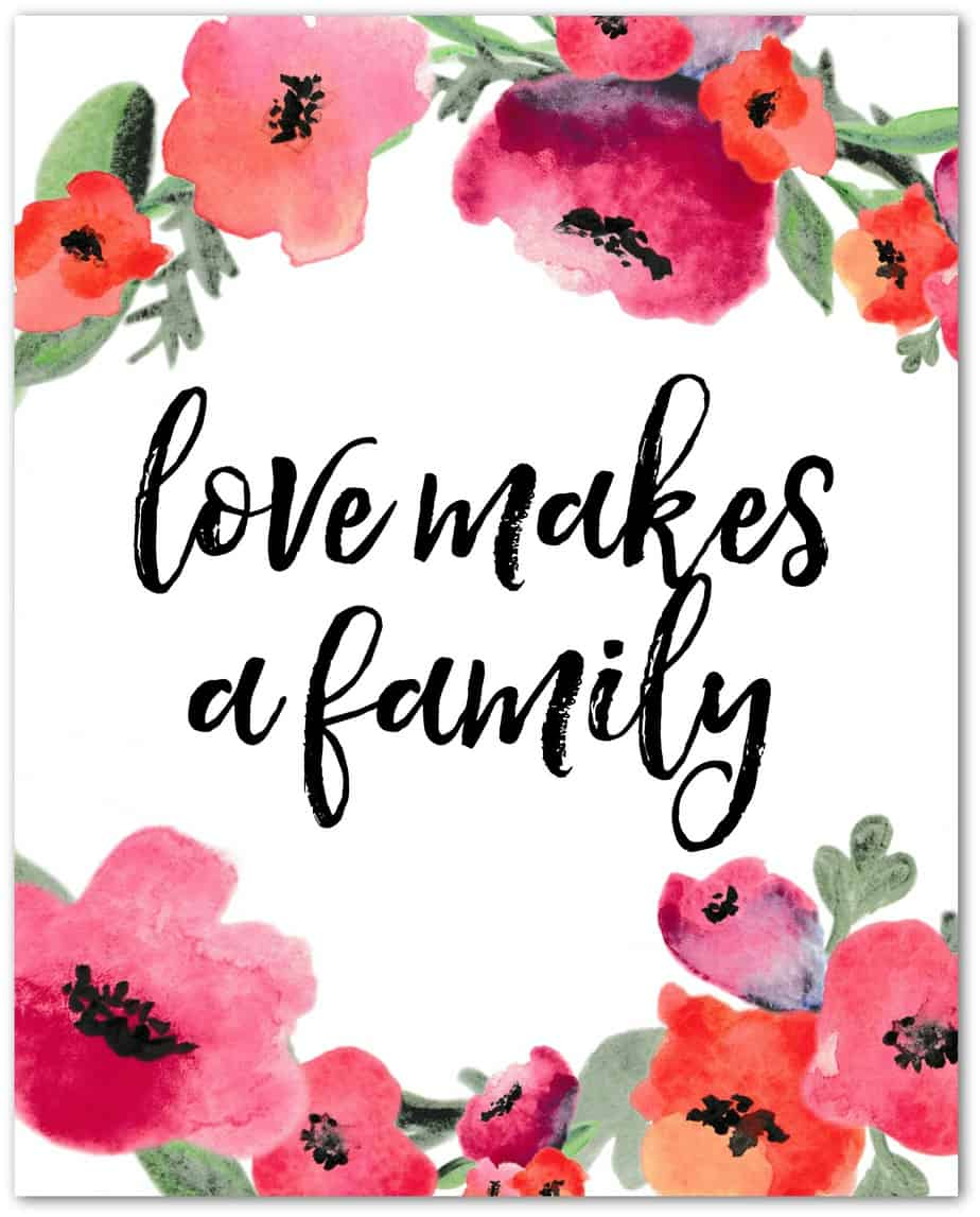 love makes a family - shadow