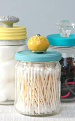 upcycled storage jars