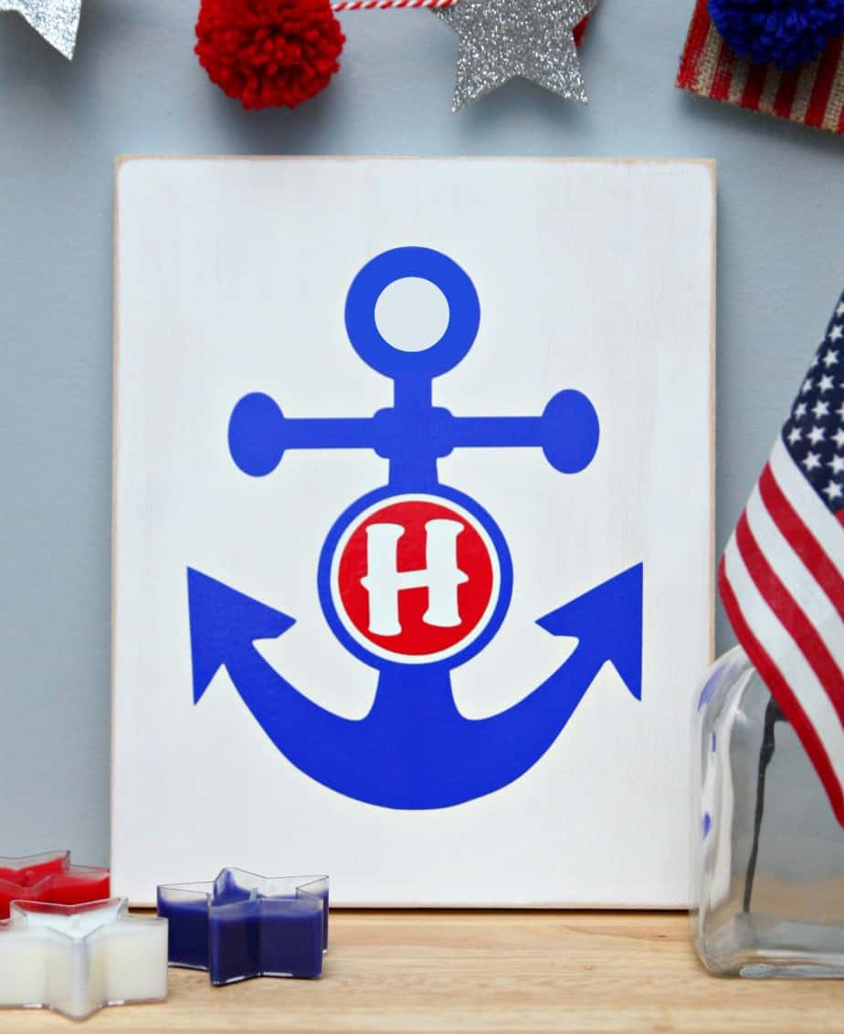 Anchor Monogrammed Sign