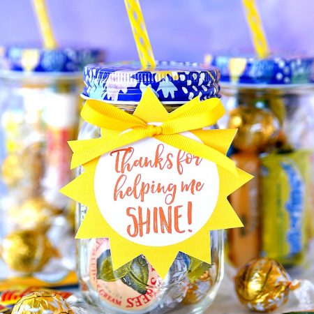 Jar of Sunshine Teacher Appreciation Gift