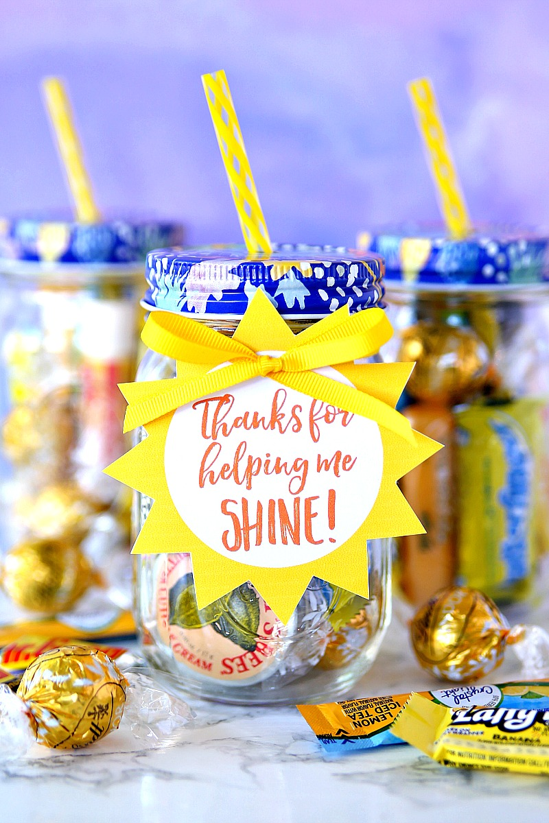 Jar of Sunshine Teacher Appreciation Gift