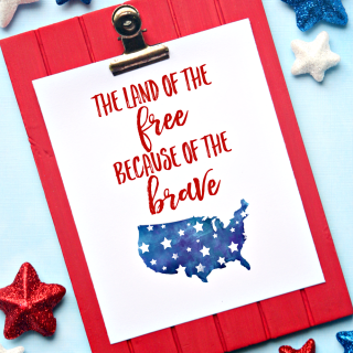 Land of the Free 4th of July Printable