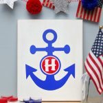 Monogrammed Anchor Sign