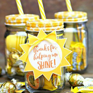 Jar of Sunshine {Teacher Gift}