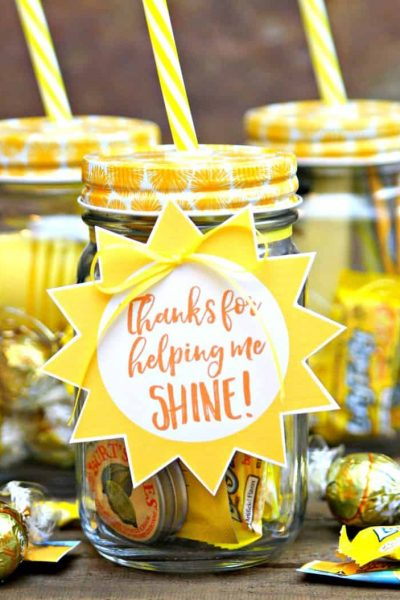 Teacher Jar of Sunshine Gift
