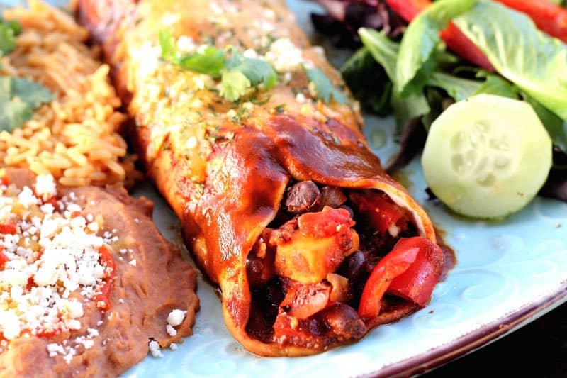 Vegetarian-Enchilada-Cooked