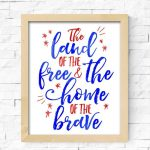Land of the Free Fourth of July Printable 2