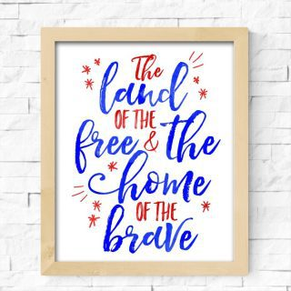 Land of the Free {Fourth of July Free Printables}