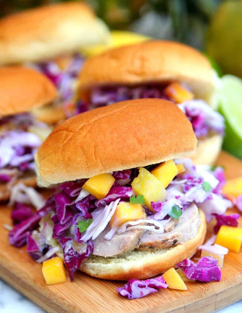 Pork Sliders with Mango Pineapple Coleslaw 2