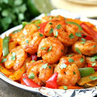 Grilled Shrimp Fajita Foil Packets