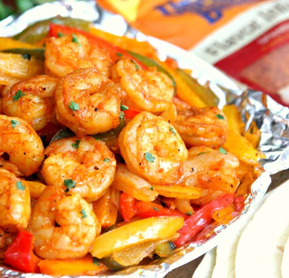 Shrimp Fajitas with Uncle Ben's Rice