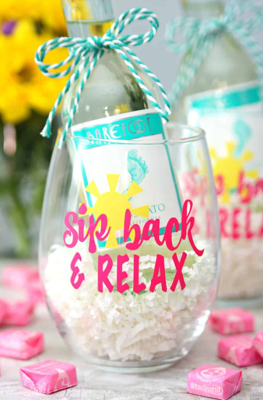 Sip Back and Relax Wine Glasses