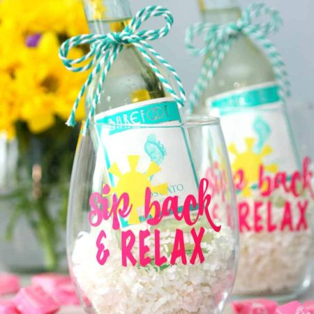 Sip Back and Relax Wine Glass Gift